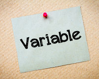 Variable Royalty Free Stock Photography