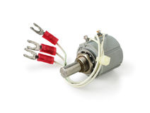 Variable Resistor Potentiometer isolated on white background clipping path. Variable Resistor Potentiometer isolated on white background with clipping path stock images