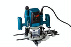 Variable speed plunge router. Isolated on a white background Royalty Free Stock Images