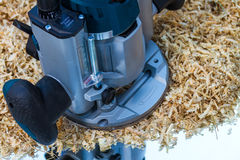 Variable speed plunge router Royalty Free Stock Images