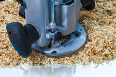 Variable speed plunge router Royalty Free Stock Photo
