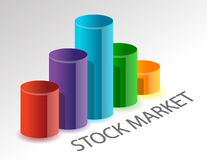 Variable stock market Royalty Free Stock Images