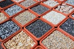 Variación de las rocas para el jardín imagen de archivo libre de regalías