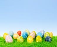 Colección del huevo de Pascua con el espacio de la copia Imagen de archivo libre de regalías