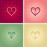 Variaciones de Lovecard Imagen de archivo