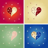Variaciones de Lovecard Foto de archivo libre de regalías