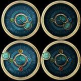 Variaciones del dispositivo de Steampunk ilustración del vector