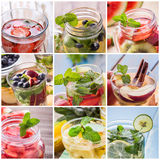 Varian della fragola, mirtillo, kiwi, cannella, mela, menta, Fotografia Stock Libera da Diritti