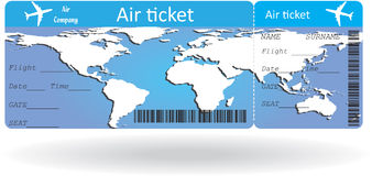 Variant of air ticket Stock Images