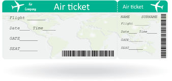 Variant of air ticket Royalty Free Stock Photo