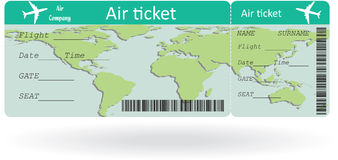 Variant of air ticket Stock Photos