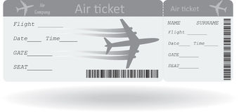 Variant of air ticket Royalty Free Stock Photos