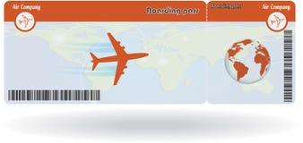 Variant of air ticket stock illustration