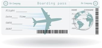 Variant of air ticket Stock Photo