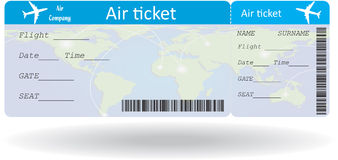 Variant of air ticket Stock Photography