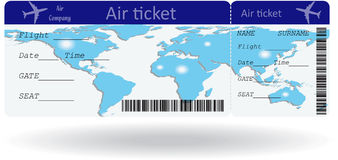 Variant of air ticket Royalty Free Stock Photography