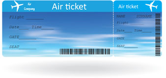 Variant of air ticket Royalty Free Stock Images