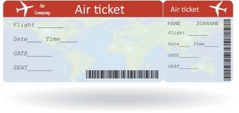 Variant av flygbiljetten Fotografering för Bildbyråer