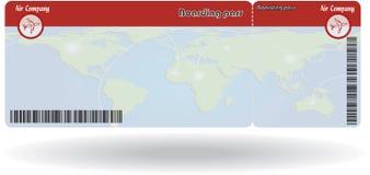 Variant av flygbiljetten Arkivfoton
