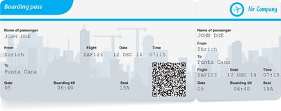 Variant of boarding pass Stock Photography