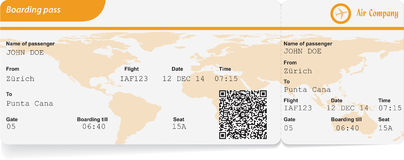 Variant of boarding pass Royalty Free Stock Photography