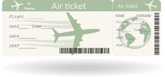 Variant of boarding pass. Isolated on white. Vector illustration Royalty Free Stock Photography