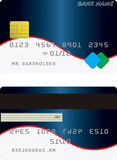 Variant of credit card Royalty Free Stock Image