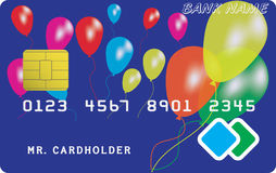 Variant of credit or debit card Stock Images