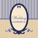 Variant of design of your wedding card. Royalty Free Stock Photo