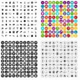 variant för vektor för 100 auto symboler för tjänste- mitt fastställd royaltyfri illustrationer
