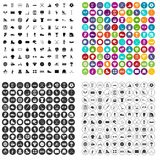 variant för vektor för 100 symboler för sportlag fastställd Arkivfoton