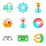 Variant icons set, cartoon style Stock Image
