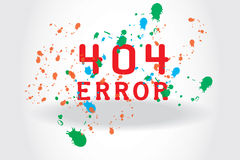 Variant of 404 page Royalty Free Stock Photography