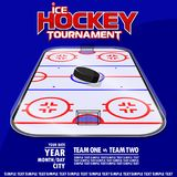 Variant of the poster for the ice hockey tournament. royalty free illustration