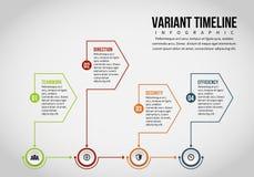 Variant- Timeline Infographic Royaltyfri Fotografi