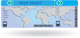Variant of train ticket Stock Photos