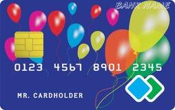 Variant van krediet of debetkaart Stock Afbeeldingen