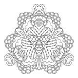 Variante blanco y negro de la mandala Imagen de archivo