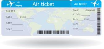 Variante del billete de avión Fotografía de archivo