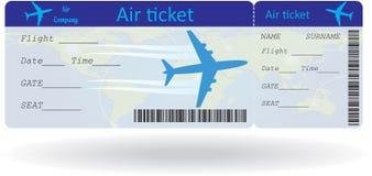 Variante del billete de avión Imagen de archivo