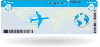 Variante del billete de avión Fotos de archivo libres de regalías