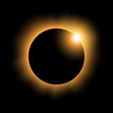 Variante 2 di eclissi solare Fotografia Stock
