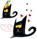 Variante dos de la historieta del gato negro Fotos de archivo