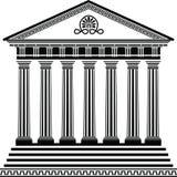 Variante grecque de pochoir deuxièmes de temple Image libre de droits