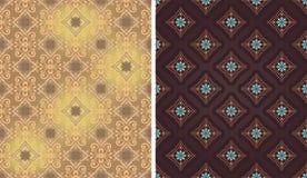 Varianten des hellen und dunklen Dekors nahtlos Stockbilder