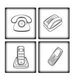 Varianten des Telefons Stockfotografie