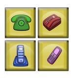 Varianten des Telefons Stockfotos