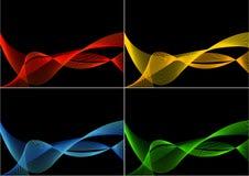 4 varianten van abstracte achtergrond Royalty-vrije Stock Afbeelding