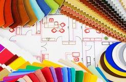 Varianten van textiel en materialen royalty-vrije stock afbeelding
