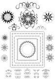 Varianter av dekorativa ramar, gränser och annan detaljer Royaltyfria Bilder